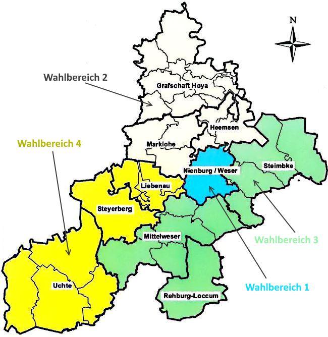 Wahlbereiche Landkreis Nienburg/Weser